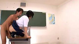 Hardcore Anal action with schoolgirl Ren Misaki