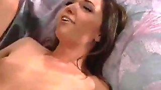 Hot Brunette Anal Creampie