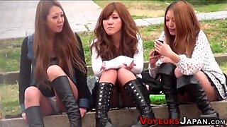 Asian teens panties seen
