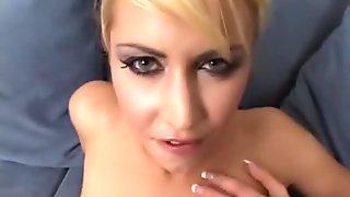 Horny pornstar Julie Silver in hottest creampie, blonde adult video