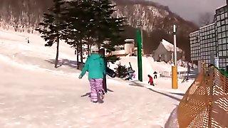 AzHotPorn.com - Big Tits Snowboard Gal Nakadashi Fucking