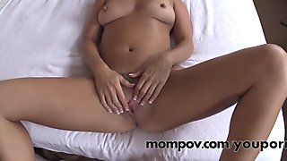 Sexy blonde milf fucked for cream pie