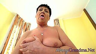 Tongued old lady facial