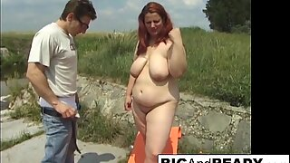 Chubby babe Agnes wants 2 cocks
