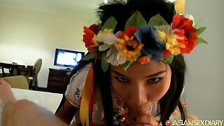 Asian Sex Diary - fabulous Filipina gets her rectum nailed by BWC