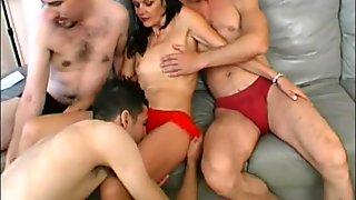 Sexy Danica Gets Gangbanged 5 guys one girl