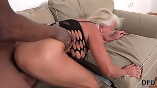Little Russian angel gets her shaved pussy nailed deeply