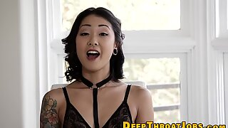 Fatal Madam met Piercings en Tatoeages Mond GenieTt Hard.