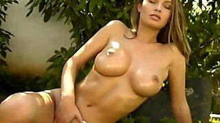 Nice slut pussy playing with banana