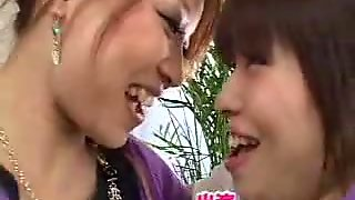 Lesbian kiss collection of saliva