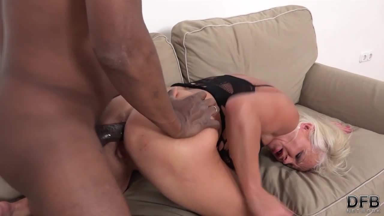 Brunette with a hairy muff takes hard pounding doggy style