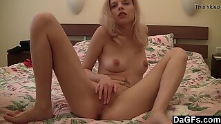 Ex-girlfriend fucking her pussy