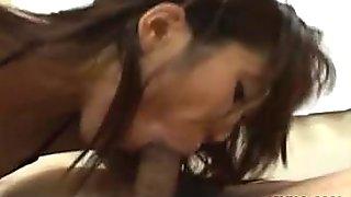 Hot Asian Erika Okazaki blowjob